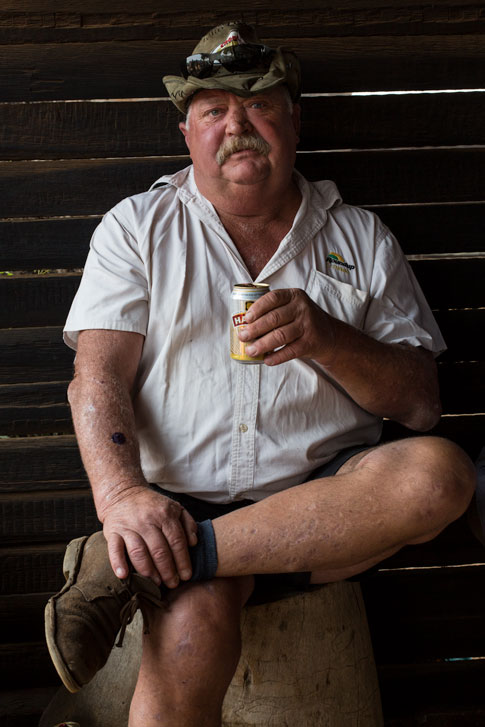 Portrait of Afrikaner photographed at a livestock auction, near Johannesburg