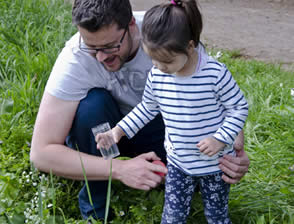Discovering beetles, bugs and butterflies at Wildwood, Bristol public-engagement project