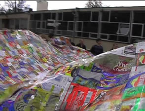 the litter quilt at Neston school, Wiltshire